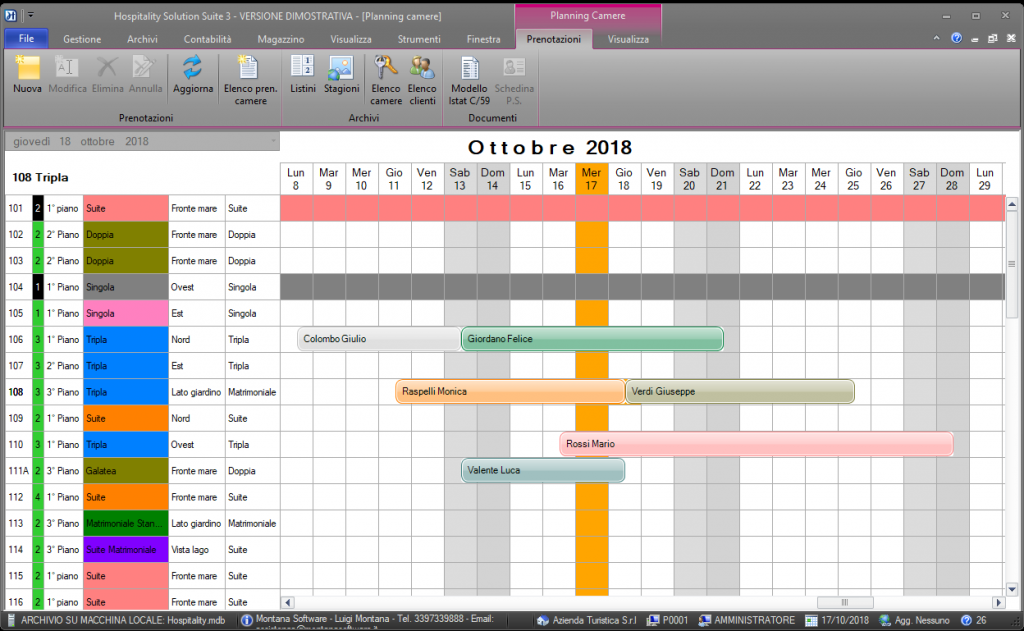 Hospitality Solution 3 - Planning di periodo