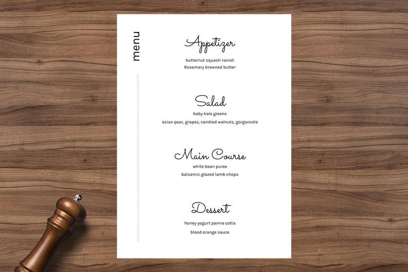 menu digitale bar